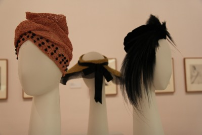 Hats by milliner Thomas Harrison on display at the National Gallery of Victoria