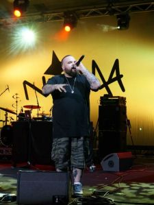 Briggs on stage at the National Indigenous Music Awards (Georgia Moodie)