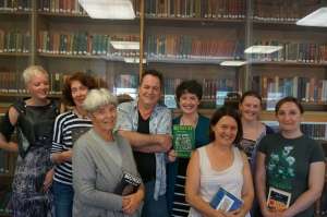 Bob DiNapoli with members of the Old English Reading Group at the University of Melbourne. Kate Mirabella is fourth from the right. (Georgia Moodie)