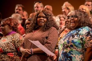 The Central Australian Aboriginal Women's Choir (Amy Jean Photography)